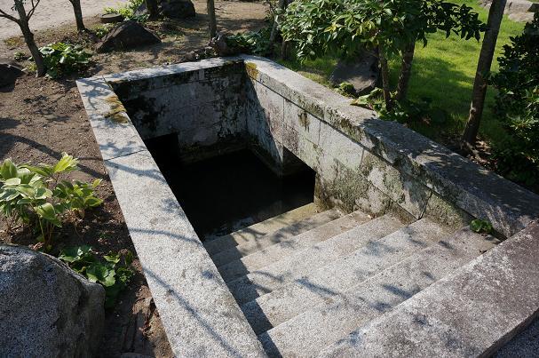庭にある水場.JPG